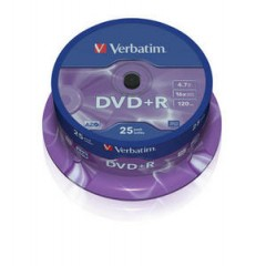 Verbatim dvd+r 16x 1/25 spindle