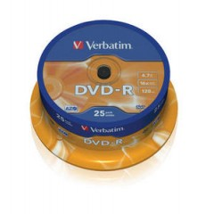 Verbatim dvd-r 16x 1/25 spindle